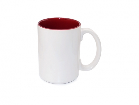 Sublimation Two Tone Mug Burgundy, 15 oz 36 each