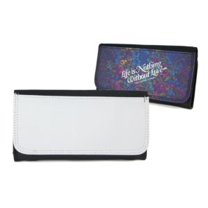 black leatherette sublimation wallet