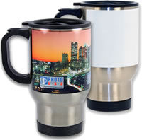 Sublimation Stainless Steel Mug patch white