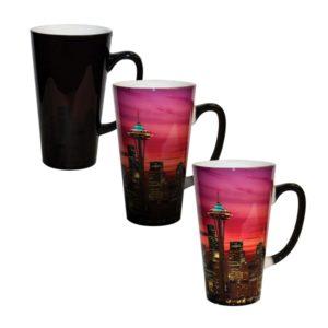 Color Changing Sublimation Funnel Mug Black