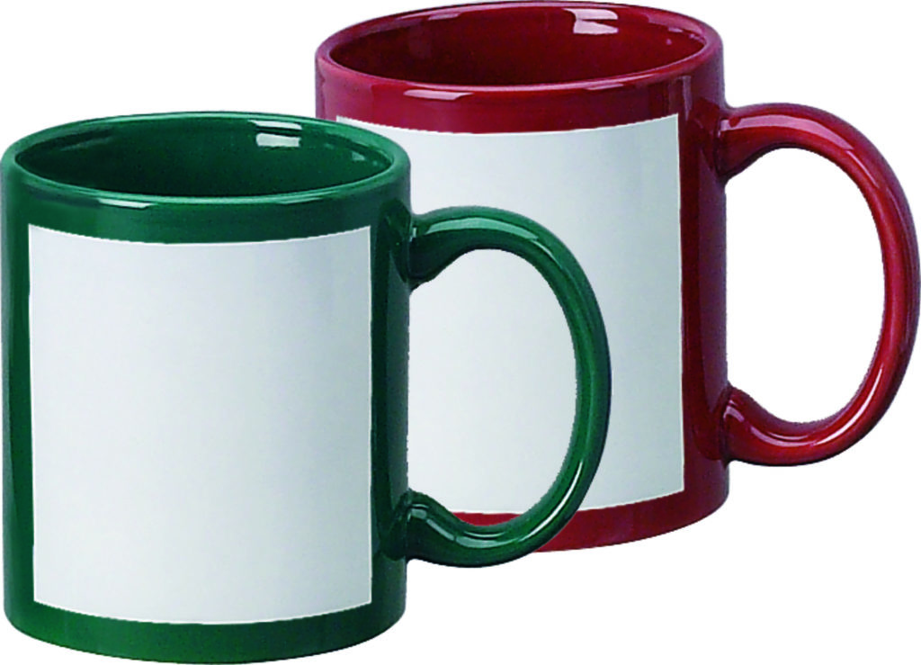 Sublimation Mug 11oz Color Mug With White Patch