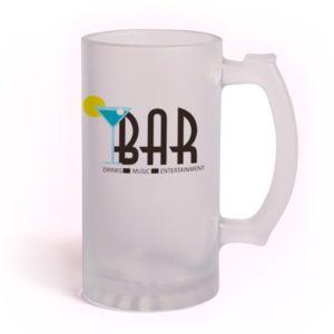 Sublimation Frosted Stein 16 oz, Made in the USA Sublimatable frosted stein,