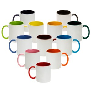 colored combo sublimation mugs