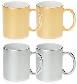 Metallic Sublimation Colored Mugs, 11 oz , 36 each