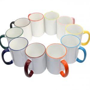 rim handle sublimation mugs