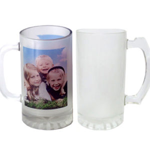 16oz Beer Glass frosted Sublimation