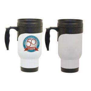 Sublimation Stainless Steel White Travel Mug, Sublimatable travel mug,