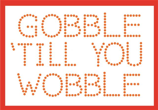 Gobble Till You Wobble free stencil Free download of the Week, 1 stencils