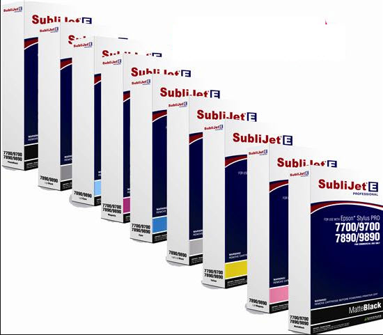 SubliJet-E Professional for the Epson 7700 / 9700 /7890 / 9890 Sublimation  Inks CLEARANCE OUT OF DATE