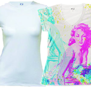 Ladies Short Sleeve Shirts for Sublimation