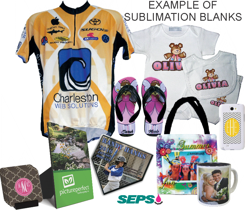 sublimation blanks collage