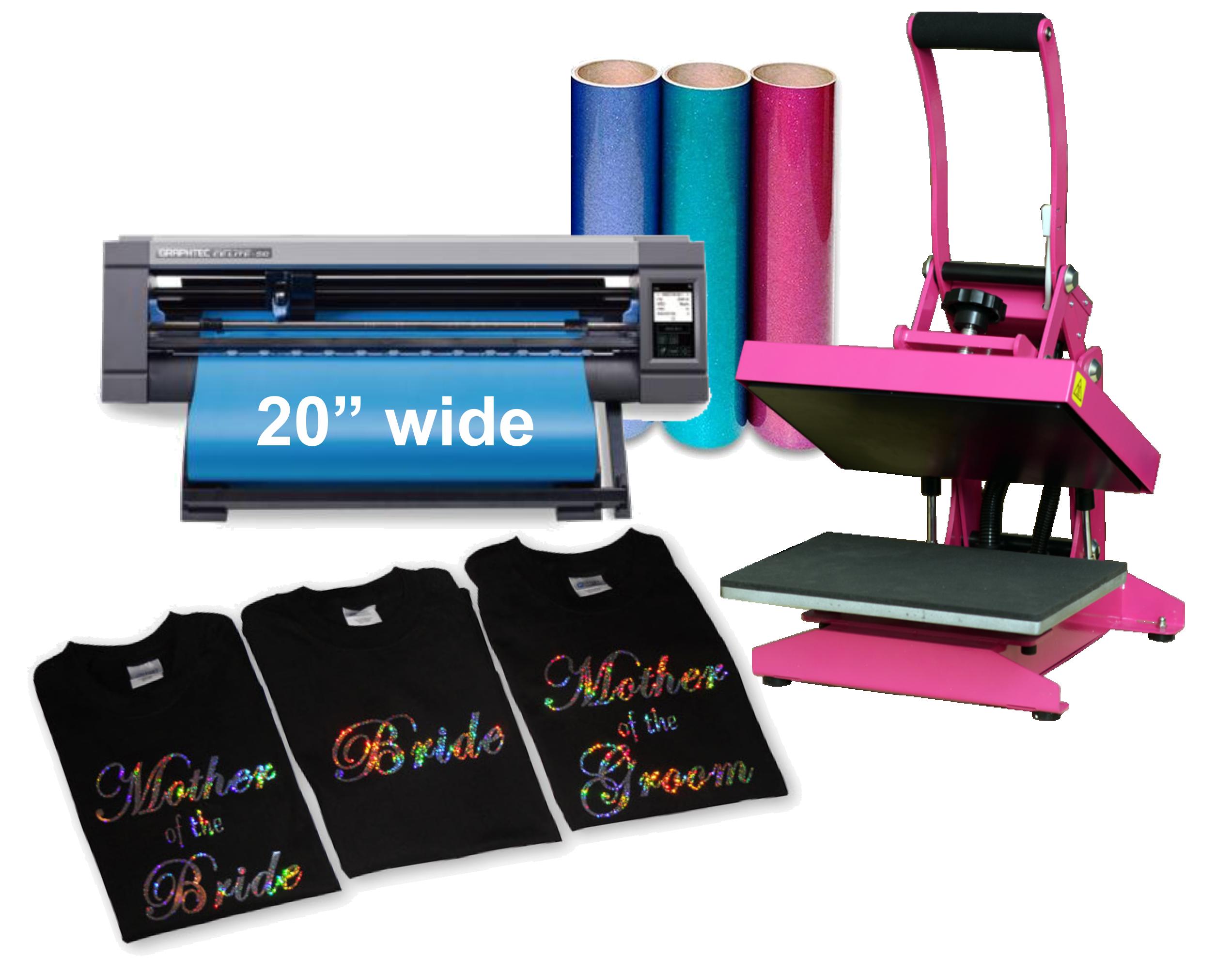 Vinyl Cutter 20 Start Up Bundle With Heat Press And Vinyl